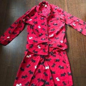 Scottie dog 🐕 flannel pajamas